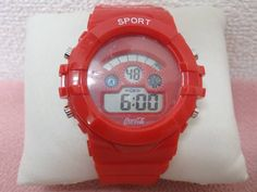 コカ・コーラ COCA COLA 腕時計 シリコンウォッチ 赤 中古品_画像1