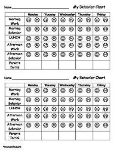 19 Elegant Weekly Behavior Chart for Kindergarten