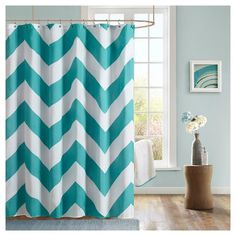 The perfect way to bring a zesty splash of color into your life, this Leo Zig Zag Print Microfiber Shower Curtain will set any bathroom ablaze with style. The ideal blend of rich hues sure to soothe the soul - especially after a long day - these upscale shower curtains are made of a sturdy microfiber material so you just know they'll hold-up over time. Microfiber's awesome because it has superior wicking properties, meaning it'll absorb moisture and oils instead of allowing them t...