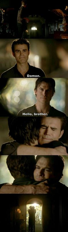 Vampire Diaries Stefan & Damon, this was beautiful to see.the Salvatore brothers reuniting!The Vampire Diaries Stefan & Damon, this was beautiful to see.the Salvatore brothers reuniting! Vampire Diaries Stefan, Serie The Vampire Diaries, Ian Somerhalder Vampire Diaries, Vampire Diaries Wallpaper, Vampire Diaries Seasons, Vampire Diaries Quotes, Vampire Diaries The Originals, Stefan Salvatore, Delena