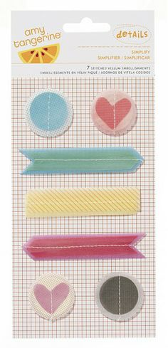 Simplify Yes, Please Amy Tangerine Vellum Shapes by American Crafts