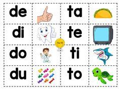 Genial memorama de sílabas para preescolar, primer y segundo grado de primaria Bilingual Education, Acting, Homeschool, Reading, K2, Bingo, Montessori, Victoria, Iphone