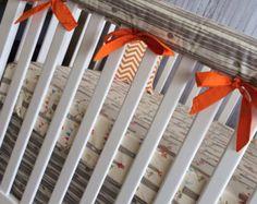 Crib Set Nursery Bedding Crib by CustomBEBEtextiles on Etsy