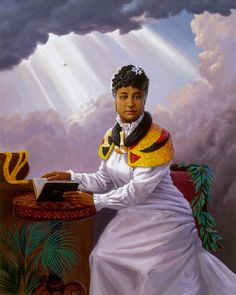 Herb Kane - Painting Image Catalog - Chiefs & Ali'i- Princess Bernice Pauahi Bishop