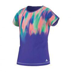 adidas Mädchen T-Shirt Clima Summer Tee night flash s15 silver met