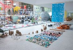 """2013 Venice Biennale - Installation in progress for Sarah Sze's """"Triple Point,"""" 2013, at the United States pavilion...the piece seemed to present a visual history complimentary to themes of The Encyclopedic Palace."""