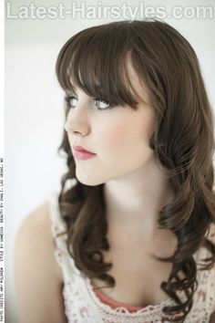 Natural Brunette Haircolor with Fringe