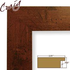 "Craig Frames Inc 17x31 Custom 2"" Wide Complete Dark Walnut Picture Frame (FM74DKW), Brown"