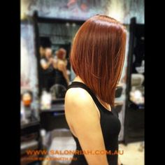 #longbob #concave #copperhair #lob #beautifulhair #kennethsiu #salonriah