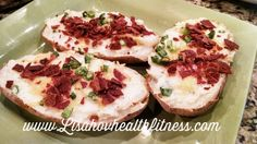 I was craving loaded potatoes when I came up with this recipe! These potatoes make a great side dish and are even terrific heated up as leftovers! Ingredients 4 large baking potatoes 8 slices of turkey bacon 1 6oz container of plain Greek yogurt 1/2 cup milk (or water) 1/2 tsp salt (optional) 1/2 tsp …
