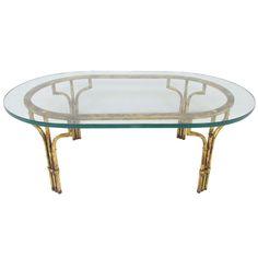 1stdibs.com | Hollywood Regency Gilt Faux Bamboo Coffee Table
