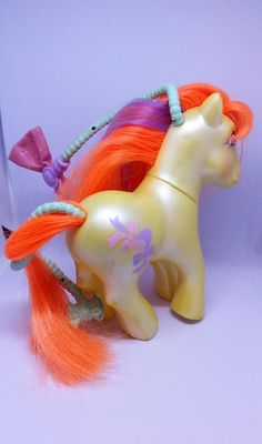 Vintage My Little Pony  Beautiful Bows Hair-Do Ponies
