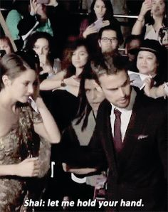 Shai: Let me hold your hand aka she wants him