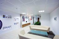 A light and welcoming reception at Capsticks' office in Leeds