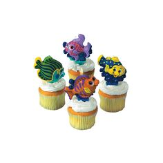 Tropical Fish Cake Topper Candles - OrientalTrading.com