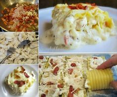 Chicken and Bacon Lasagna Rollups
