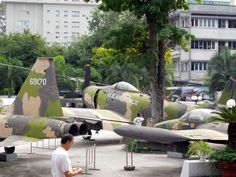 US war planes in the museum. There is a Cuban museum like this too.