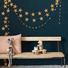 Guirlandes étoiles en papier doré