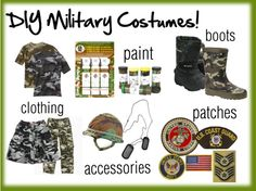 Sometimes the best part about Halloween for kids and their parents is getting to build their own costume from scratch.    Homemade military costumes a great way to show off your crafty side and support the military community at the same time.     You can really custom-make any type of military costume you want, starting with these crafty must-haves.