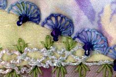 great pictorial of crazy quilt stitches :) illustration of buttonhole wheel on crazy quilting