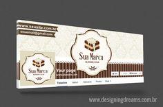IDENTIDADE VISUAL PARA CAKE DESIGN ( BROWNIE)