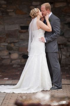 First Kiss at Spring Wedding Northern Michigan Castle Farms nautical theme Amber + Joe photo by Paul Retherford Wedding Photography, http://www.PaulRetherford.com #castlefarms #Charlevoix #NorthernMichigan #Wedding #WeddingVenue #WeddingVendor