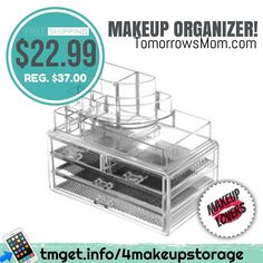 Need somewhere to put that $100 worth of makeup for $25 coming your way? (See previous post) Get this 4 drawer makeup organizer w/ free shipping! . . Read more details at:  http://tmget.info/4makeupstorage go to: TomorrowsMom.com  follow the link in my Bio @Tomorrowsmom #tomorrowsmom #cosmicmothers #feminineenergy #loa #organic #fitmom #health101 #conscience #wakeupamerica #change #nongmo #organiclife #crunchymama #organicmom #gmofree #organiclifestyle #weareone #ecofriendly #savetheearth…