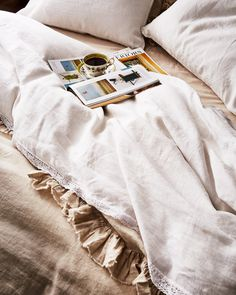 With super-soft linen bedding and a hot cup of tea, we could easily stay in bed all day!