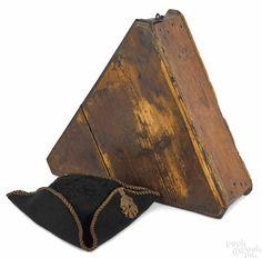 18th c. tricorn hat and original box. PookandPook.com