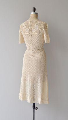 Gather Together dress vintage 1930s dress cotton von DearGolden