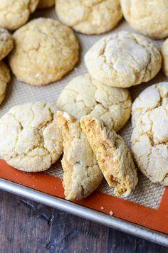 Pumpkin Sugar Cookies (recipe via thenovicechefblog.com) | pumpkin recipes, desserts, sweets