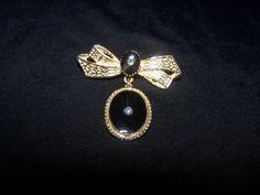 Elegant 1950's-1970's Vintage Black Enameled by VintageNoirMaison