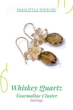 Dainty Earrings, Cluster Earrings, Earrings Handmade, Women's Earrings, Tourmaline Earrings, Tourmaline Gemstone, Special Deals, Gift Cards, Custom Jewelry