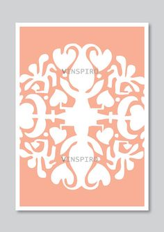 Modern art print decor ornament illustration pastel by Vinspiro, $18.00