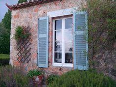 Patrick Leigh Fermor's house at Kalamitsi Kardamyli. Patrick Leigh Fermor, Greek House, Peaceful Places, Pretty Little, Greece, Garage Doors, Colour, Outdoor Decor, Beautiful