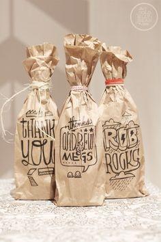 sharpie   brown bags
