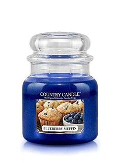 16oz Country Classics Medium Jar Kringle Candle: Blueberry Muffin