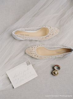 Ariel ivory sequin crystal dégradé strass comfortable ivory wedding flats. e3c7ee95fd24