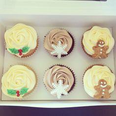 Christmas cupcakes. Raspberry and Rose tea. Chocolate. Gingerbread.