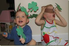 Fun St Patrick's Day hats for kids from mamasmiles.com