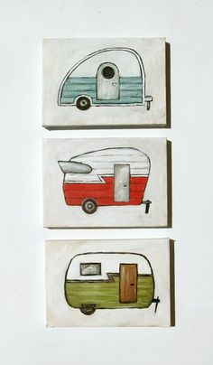 Retro Red Camper  5x7 Print by heatherfuture on Etsy, $12.00