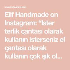 """Elif Handmade on Instagram: """"İster terlik çantası olarak kullanın isterseniz el çantası olarak kullanın çok şık oldu çantam güle güle kullanılsın 🥰❤️ İsteğe…"""" Elsa, Instagram, Olinda"""