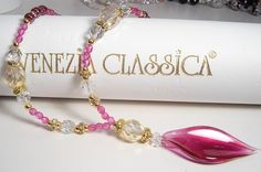 Collana/Necklace ISOTTA Original Murano Glass Hand Made in Italy
