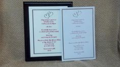 $65     Your wedding invitation recreated on a ceramic tile mounted in a black laquer piano box.    Cherry's Delight  803.739.0357