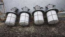 VINTAGE INDUSTRIAL ANTIQUE LOFT  OPAL  FACTORY PENDANT LIGHT FIXTURES LAMPS