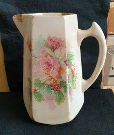 Antique Russia Empire porcelain Juice Pitcher Jug Kuznetcov Kuznecovs #Empire #Kuznecovs