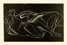 Henry Moore 'Reclining Nude' 1931 Woodblock (CGM 2)  Courtesy the Henry Moore Foundation