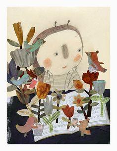L'abeille et le livre - Manon Gauthier  maintenant disponibles chez Sur ton mur! http://surtonmur.com/collections/manon-gauthier