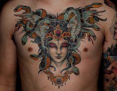 Medusa Tattoo done by Ryan Mason
