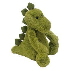 Buy Jellycat Medium Bashful Dinosaur Soft Toy, Green Online at johnlewis.com